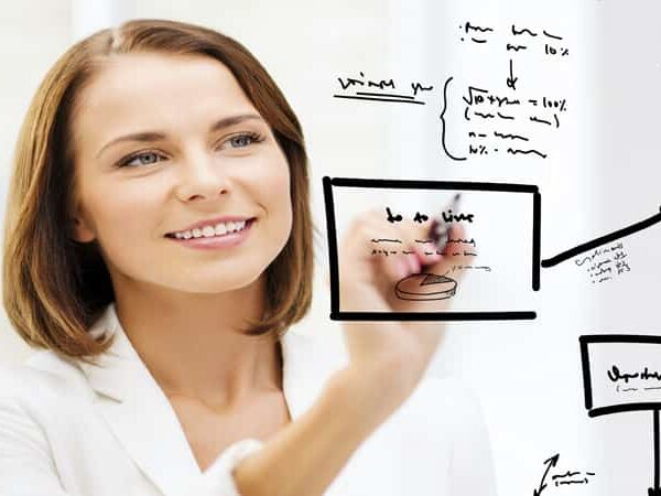 woman working on strategy