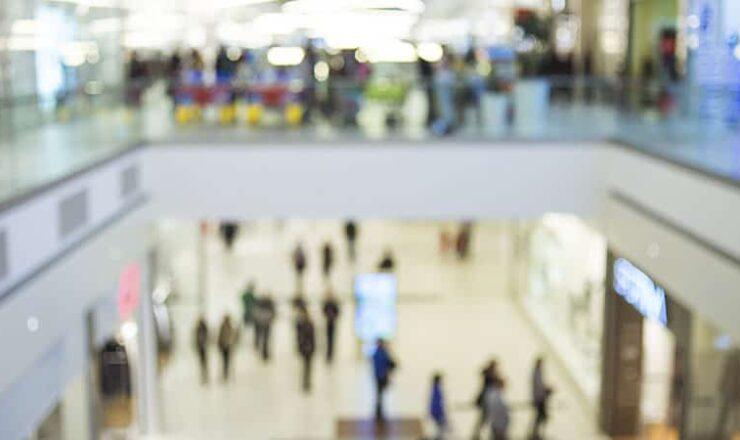 busy shopping center
